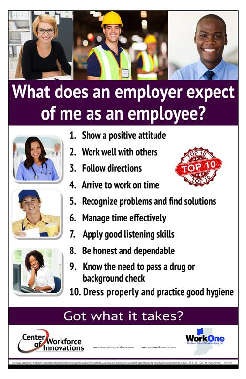 What does my employer expect of me as an employee?