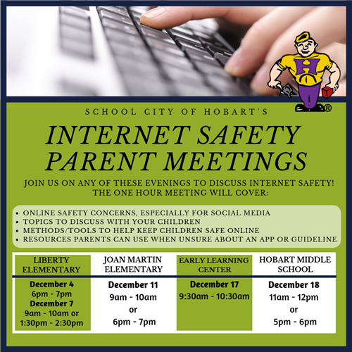 Internet Safety Parent Meetings