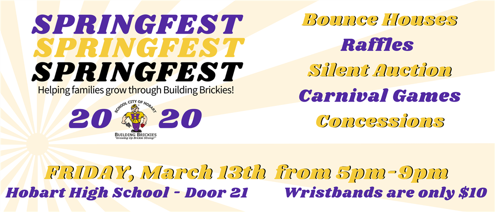 Join us for the biggest bash this season!  Spring Fest promises loads of fun for kids ages! Friday,