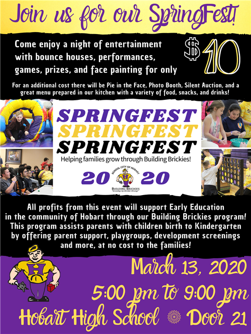 SpringFest 2020 - March 13 - HHS - 5pm to 9pm