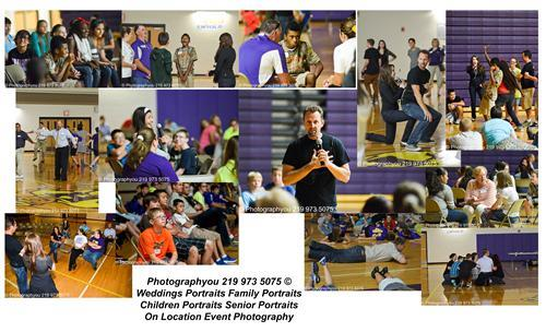 Collage of pictures from the Chain Reaction Event at HHS.