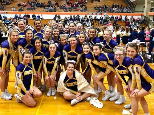 Cheerleaders at LaPorte Competition