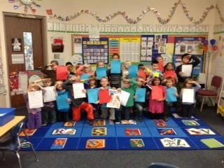 Mrs. Floyd's Class with their letters to Veterans