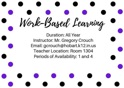 Work-Based Learning info