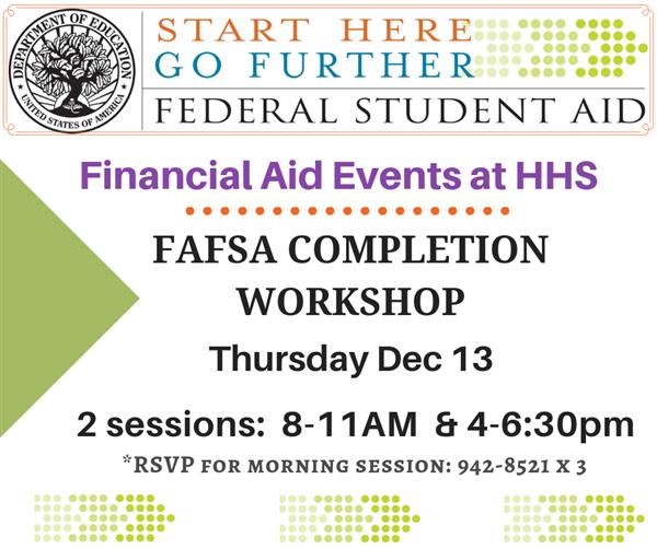 FAFSA event info w logo